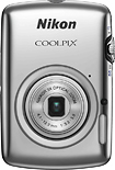 Nikon - Coolpix S01 101-Megapixel Digital Camera - Silver