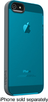 Belkin - Grip Candy Sheer Case for Apple iPhone 5 - Teal/Silver