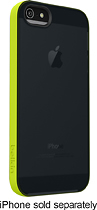 Belkin - Grip Candy Sheer Case for Apple iPhone 5 - Black/Green