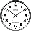 "La Crosse - 20"" Indoor/Outdoor Atomic Wall Clock - Silver"