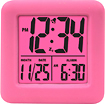 Equity by La Crosse - Soft Cube Alarm Clock - Pink