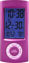 Equity by La Crosse - Digital Pocket Alarm Clock - Pink