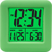 Equity by La Crosse - Soft Cube Alarm Clock - Green