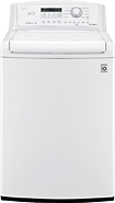 LG - 4.5 Cu. Ft. 8-Cycle Ultra-Large Capacity High-Efficiency Top-Loading Washer - White