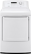 LG White Front Load Dryer DLE4870W