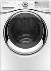 Whirlpool - Duet 43 Cu Ft 12-Cycle High-Efficiency Steam Front-Loading Washer - White