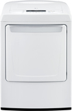 LG - 7.3 Cu. Ft. 9-Cycle Ultra-Large Capacity Electric Dryer - White DLE1101W
