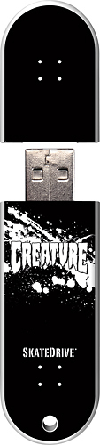Action Sport Drives - Creature Logo GreenSM 16GB USB 2.0 Flash Drive - Pattern