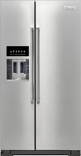 KitchenAid - 24.8 Cu. Ft. Side-by-Side Refrigerator - Stainless Steel (Silver)