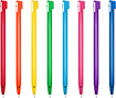 Nintendo - Rainbow Stylus 8-Pack for Nintendo Wii U GamePad