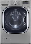 LG - TurboWash 43 Cu Ft 14-Cycle High-Efficiency Steam Front-Loading Washer - Graphite Steel