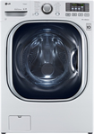 LG - TurboWash 43 Cu Ft 14-Cycle High-Efficiency Steam Front-Loading Washer - White
