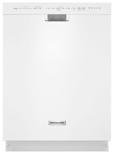 KitchenAid - 24 Tall Tub Built-In Dishwasher - White