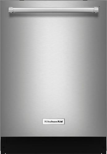 KitchenAid - 24 Built-In Dishwasher with Stainless-Steel Tub - Stainless Steel (Silver)