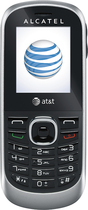 AT&T GoPhone - Alcatel 510A No-Contract Cell Phone - Black/Silver