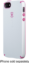 Speck - CandyShell Hard Shell Case for Apple iPhone 5 - Gray/Raspberry