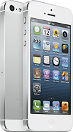 Apple - iPhone 5 with 64GB Memory Mobile Phone - White & Silver (Sprint)