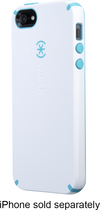 Speck - CandyShell Case for Apple iPhone 5 - White/Peacock Blue
