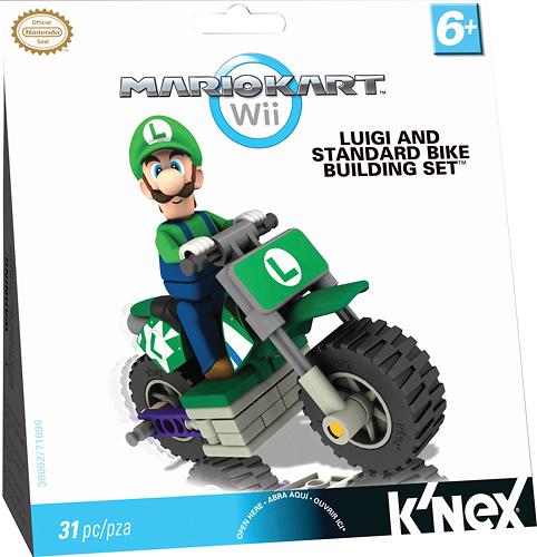K'NEX - Mario Kart Wii Luigi and Standard Bike Building Set