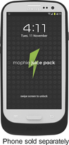 mophie - Juice Pack Air Charging Case for Samsung Galaxy S III Mobile Phones - Black