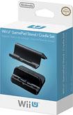 Nintendo - Stand and Cradle Set for Nintendo Wii U GamePad - Black