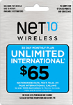 NET10 - $65 Top-Up Prepaid Card