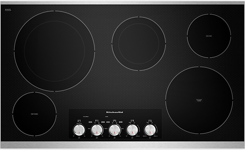 KitchenAid - 36 Built-In Electric Cooktop - Stainless Steel (Silver)