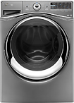 Whirlpool - Duet 43 Cu Ft 12-Cycle Steam Front-Loading Washer - Chrome Shadow