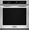 KitchenAid - 27&quot; Built-In Single Electric Convection Wall Oven - Stainless-Steel