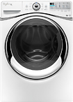 Whirlpool - Duet 43 Cu Ft 12-Cycle Steam Front-Loading Washer - White