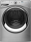 Whirlpool - Duet 43 Cu Ft 12-Cycle High-Efficiency Steam Front-Loading Washer - Diamond Steel