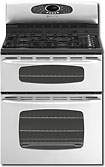 "Maytag Gemini 30"" Self-Cleaning Freestanding Double Oven Gas Convection Range - Stainless-Steel"