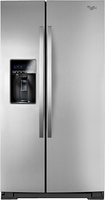 Whirlpool - 265 Cu Ft Side-by-Side Refrigerator with Thru-the-Door Ice and Water - Monochromatic Stainless-Steel