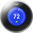 Nest - Learning Thermostat 2nd Generation - Stainless-Steel