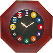 Trademark Games - Octagonal Wood Billiards Quartz Clock