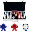 Trademark Poker - Holdem Poker 300-Piece 115-Gram Poker Chip Set
