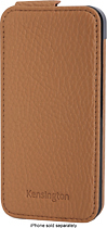 Kensington - Portafolio Flip Wallet for Apple iPhone 5 - Tan Nappa