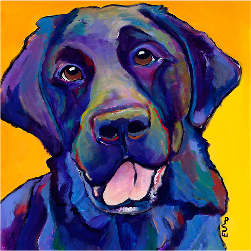 Trademark Art - Pat Saunders-White Buddy Gallery-Wrapped Canvas - Purple/Yellow