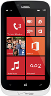 Nokia - Lumia 822 4G LTE Mobile Phone - White (Verizon Wireless)