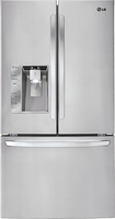 LG - 32.5 Cu. Ft. French Door Refrigerator with Thru-the-Door Ice and Water - Stainless-Steel
