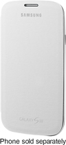 Samsung - Flip Cover for Samsung Galaxy S III Mobile Phones - White