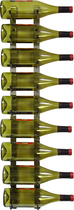 Epicureanist - Epic 9-Bottle Wine Rack - Nickel