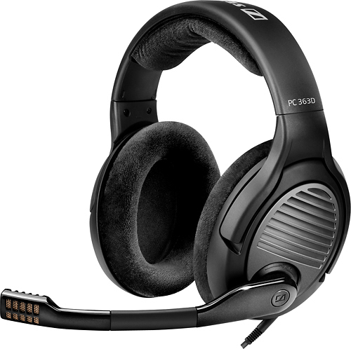 Sennheiser - PC 363D Gaming Headset - Black