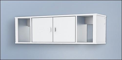 Prepac - Designer Floating Hutch - White