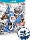 Madden NFL 13 - PRE-OWNED - Nintendo Wii U
