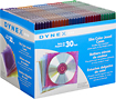 Buy Cases  - Dynex 30-Pack Color Slim Jewel Cases - Assorted