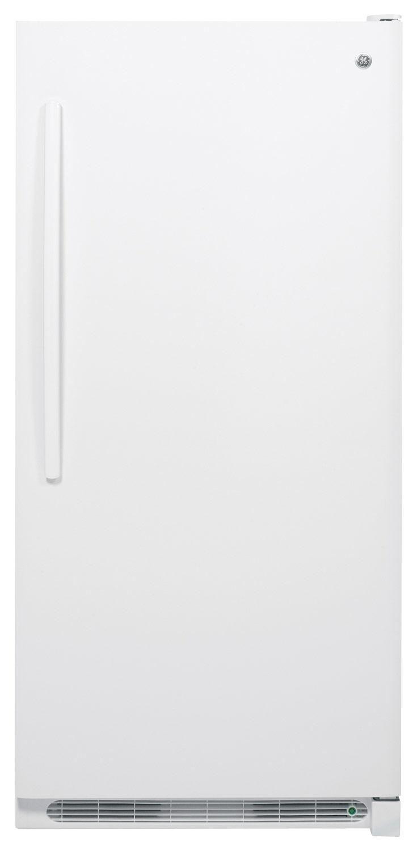 GE - 20.9 Cu. Ft. Upright Freezer - White