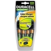 Duracell - Battery Charger with 4 Rechargeable AA NiMH Batteries