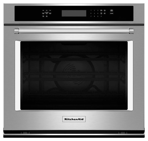 KitchenAid - 27 Built-In Single Electric Convection Wall Oven - Stainless Steel (Silver)
