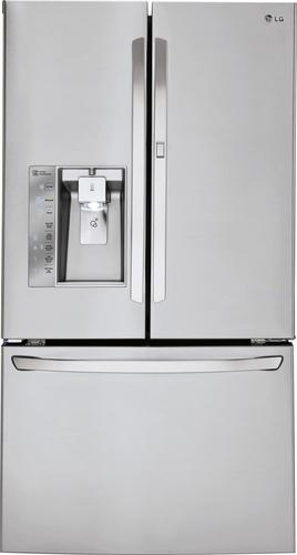 LG - 29.6 Cu. Ft. French Door Refrigerator with Thru-the-Door Ice and Water - Stainless Steel (Silver)
